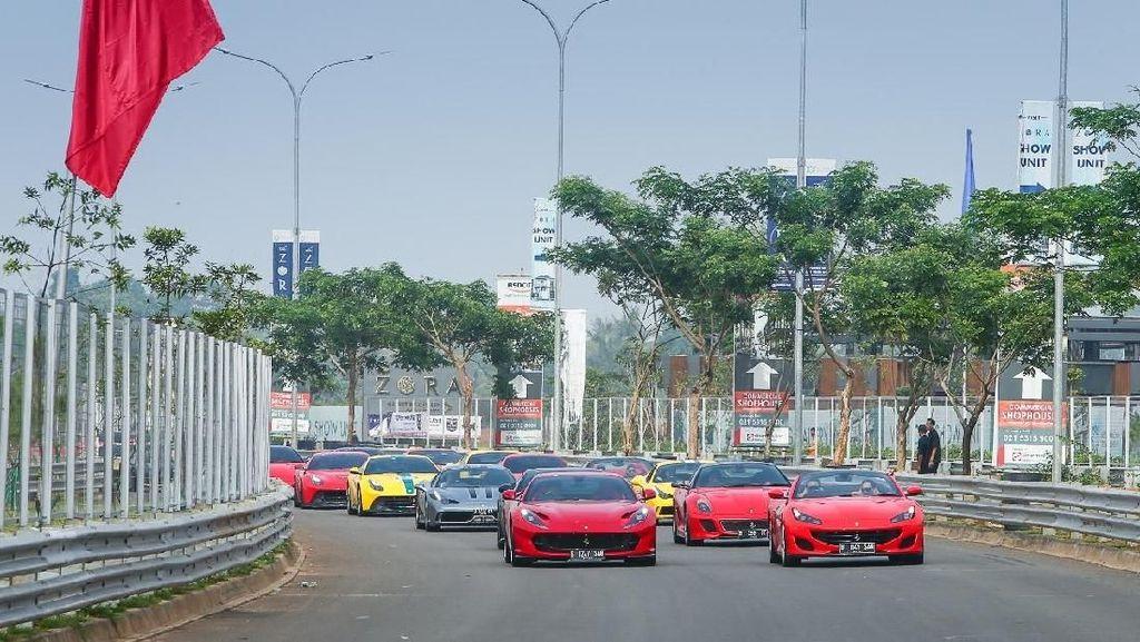Brumm, Ferrari Buat Sesak BSD Tangerang