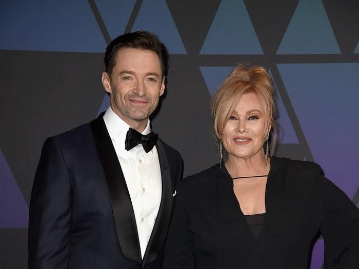 NEW YORK, NY - OCTOBER 16:  Hugh Jackman and Deborra-lee Furness attend Gods Love We Deliver, Golden Heart Awards at Spring Studios on October 16, 2018 in New York City.  (Photo by Dimitrios Kambouris/Getty Images for Michael Kors)