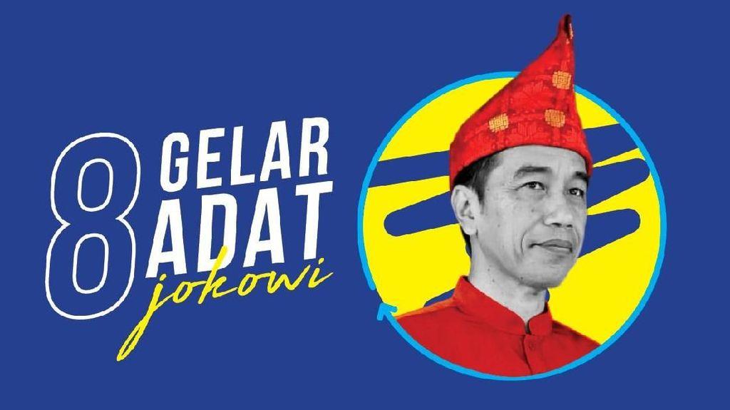 Gelar Adat untuk Jokowi, dari Minang hingga Papua