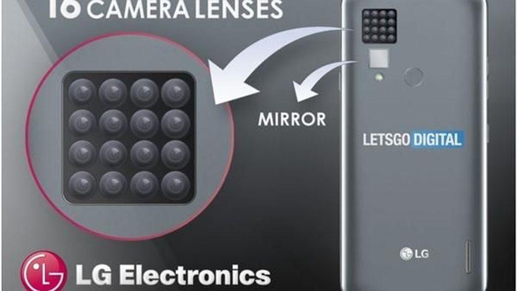 Edan! LG Patenkan Ponsel dengan 16 Kamera Belakang