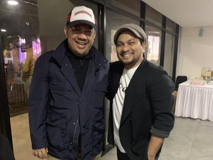 Fahri Hamzah dan dr Tompi saat bertemu. (Foto: dok. Twitter Tompi)