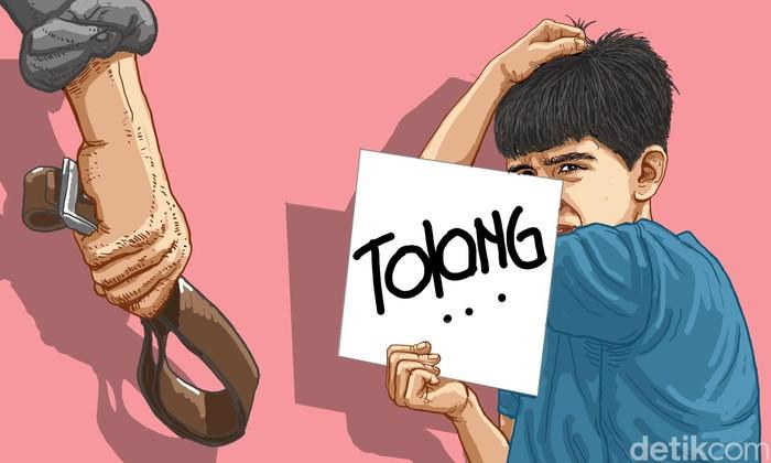 perlakuan kekerasan orang tua pada anak