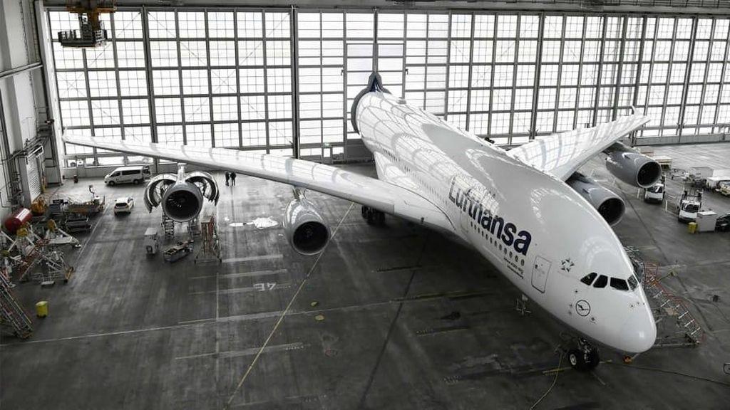 Hanggar Unik Pesawat Raksasa Airbus A380 di Jerman