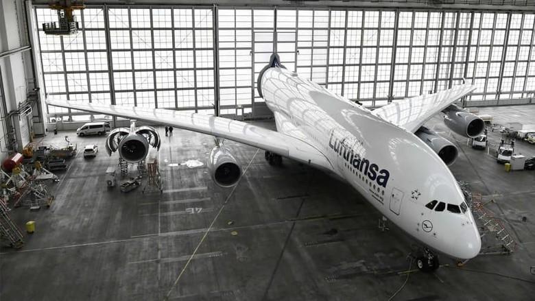 Hangar Airbus A380 Lufthansa di Bandara Munich