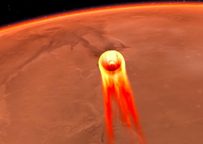 Ilustrasi InSight akan mendarat di Mars. Foto: NASA