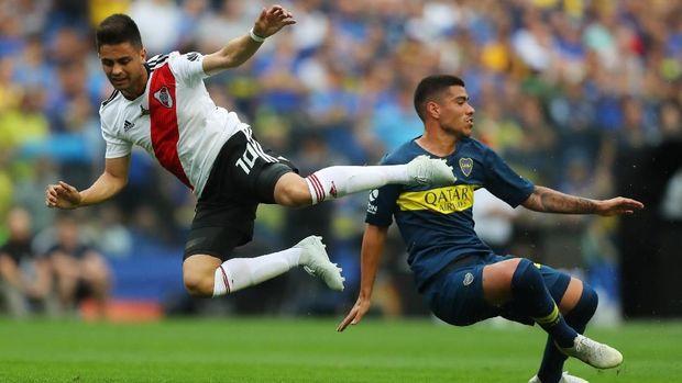 Leg pertama final Copa Libertadores 2018 berakhir imbang 2-2.