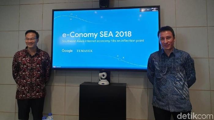 Managing Director Google Indonesia Randy Jusuf dan Head of Strategy & Insights Google Southeast Asia Samuele Saini (Foto: Adi Fida Rahman/detikINET)