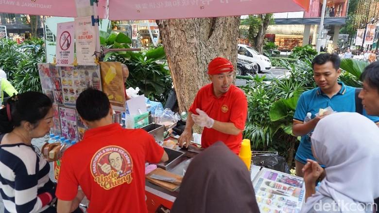 Es krim potong Singapura Traditional & Wafer Ice Cream Uncle Chieng (Masaul/detikTravel)
