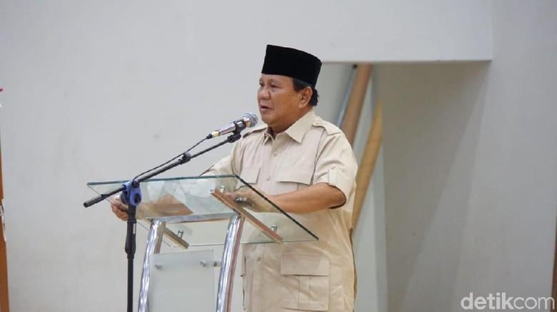 Prabowo: Indonesia Butuh Orang Cerdas dan Jujur