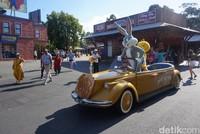 Begitu lagu Cant Stop The Feeling diputar, karakter kartun Looney Tunes mulai berjoget. Ada Tweety si burung kenari diapit Bugs Bunny si kelinci cerdik dan Daffy Duck si bebek. (Melisa/detikTravel)