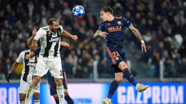 Juventus punya rapor kemenangan di kandang Valencia (2-0).