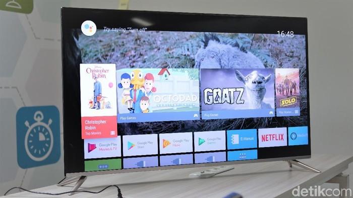 Review TV Coocaa 50S5G yang harganya relatif terjangkau (Foto: Adi Fida Rahman/detikINET)