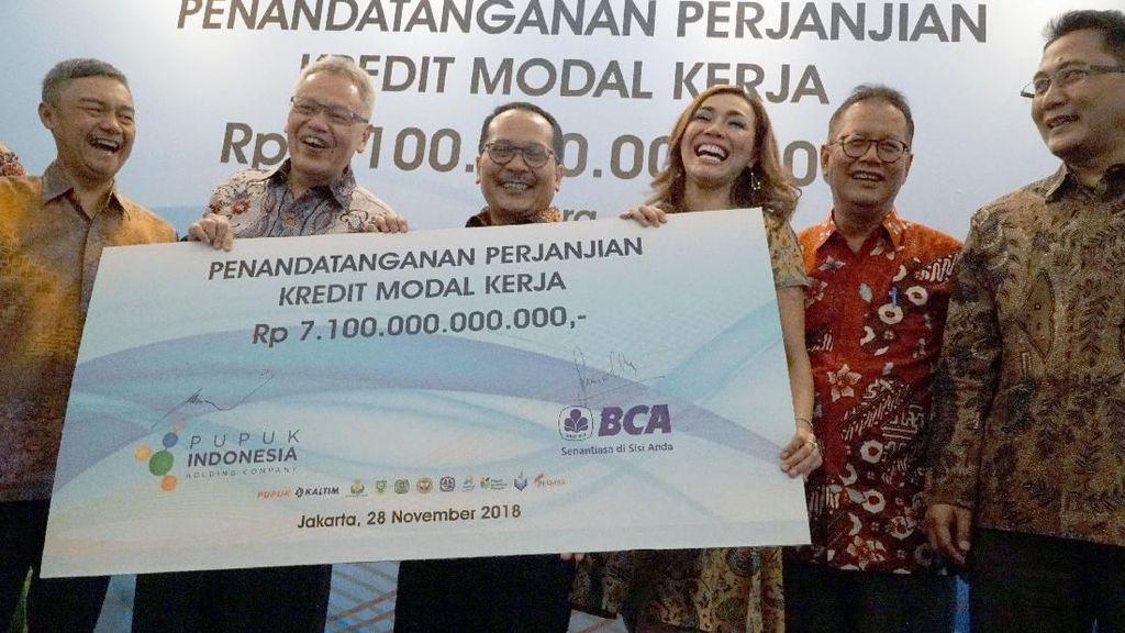 BCA Kucurkan Kredit Rp 7,1 T ke Pupuk Indonesia