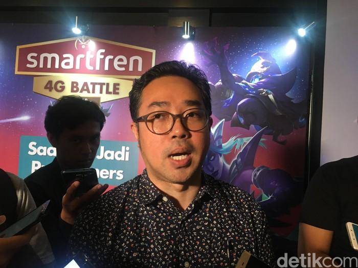 Chief Brand Officer Smartfren Roberto Saputra. Foto: Agus Tri Haryanto/detikINET