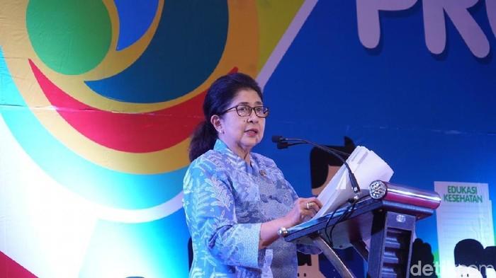 Menteri Kesehatan (Menkes) Nila Moeloek. Foto: Frieda Isyana Putri/detikHealth