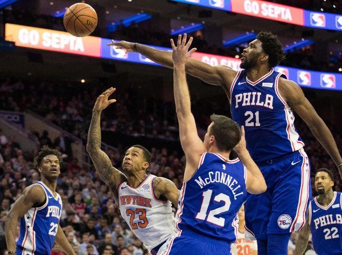 Philadelphia Sixers kalahkan New York Knicks (Bill Streicher-USA TODAY Sports)