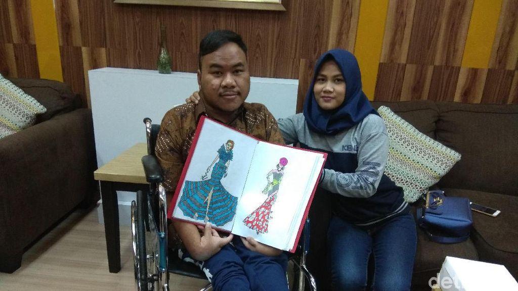 Designer Difabel Rahmat Hidayat Nitip Pesan: Enggak Boleh Menyerah!