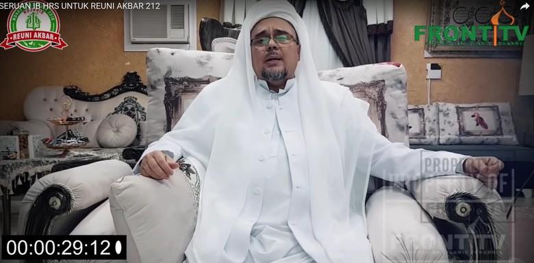 Habib Rizieq Akan Sampaikan Instruksi lewat Video di Ijtimak Ulama III