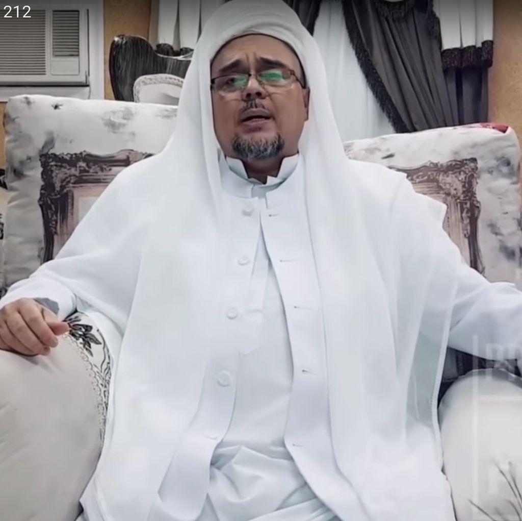 Di Malam Munajat 212, Habib Rizieq Bicara Penegakan Hukum Suka-suka