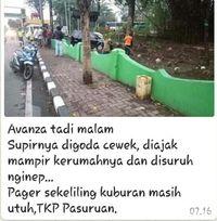 Sopir Avanza Digoda Si Manis sampai Masuk Kuburan, Benarkah?