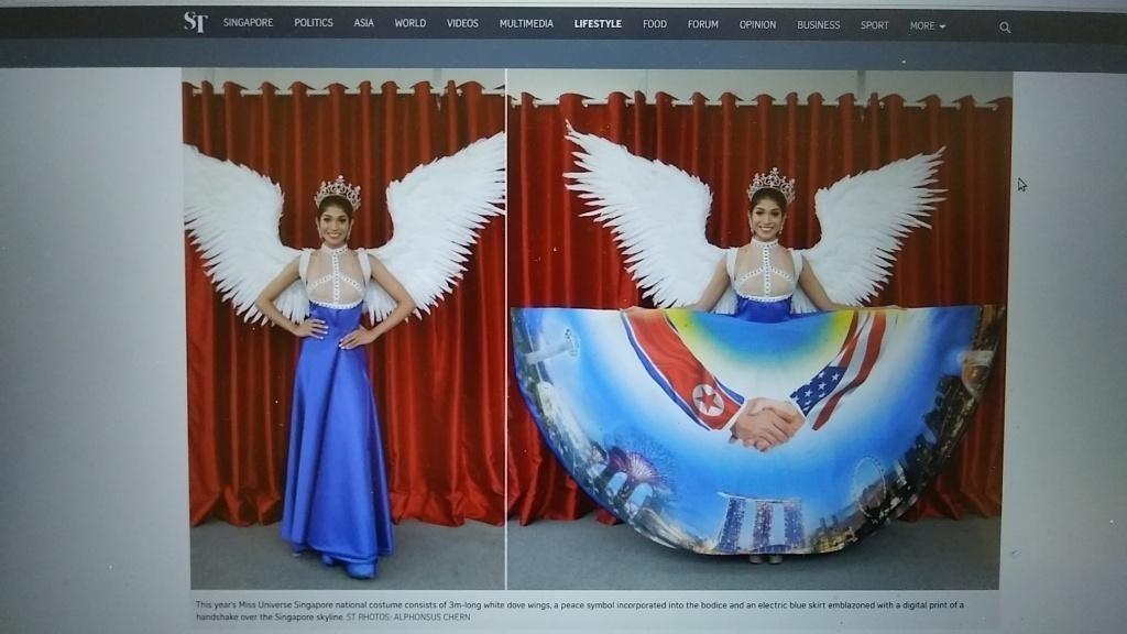 Potret Liburan Miss Singapura yang Pakai Kostum Kontroversial