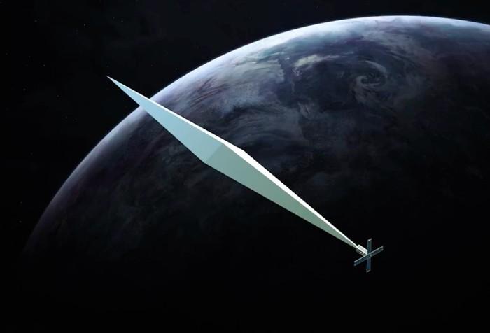 Ilustrasi Orbital Reflector di angkasa. Foto: istimewa