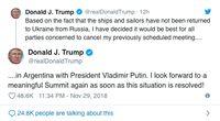 Trump Batalkan dengan Putin di G20