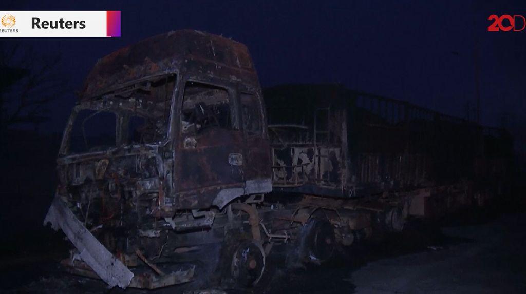 Video Kengerian Ledakan Truk di China yang Tewaskan 22 Orang