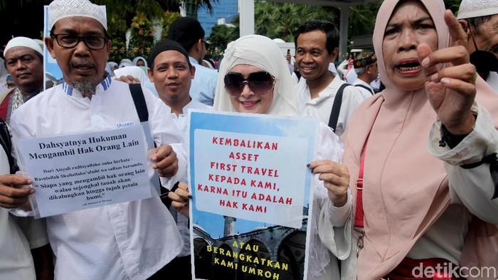 Korban meminta aset First Travel dikembalikan (Lamhot Aritonang/detikcom)