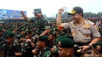Aksi Panglima-Kapolri di Apel Pengamanan Natal Hingga Pemilu 2019