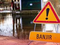 Imbas Turap Longsor di Ciputat, Kompleks Polisi Udara Pondok Cabe Kebanjiran