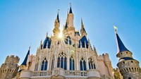 Disebut sebagai tempat paling membahagiakan di dunia, Disneyland di Amerika Serikat juga jadi lokasi prewedding. Mungkin agar kisah cinta mereka seindah dongeng putri-putri Disney (Disneyland Orlando)