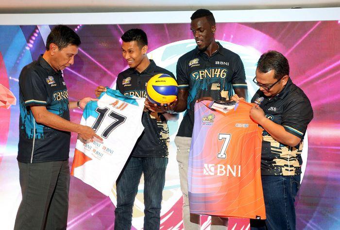 Bank Negara Indonesia memperkenalkan tim putra dan putri yang akan berlaga di Proliga 2019.