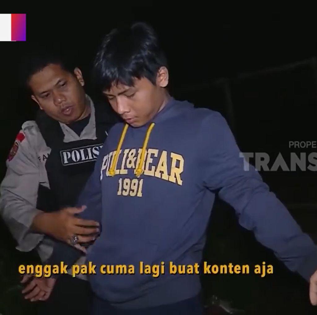 Kejadian Lucu Penindakan Polisi, Ngompol Sampai Mewek