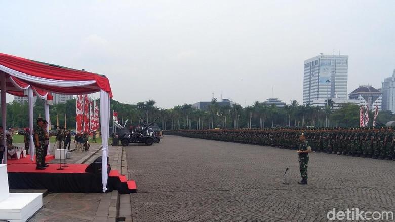 Panglima dan Kapolri Pimpin Apel Pengamanan Natal hingga Pemilu 2019