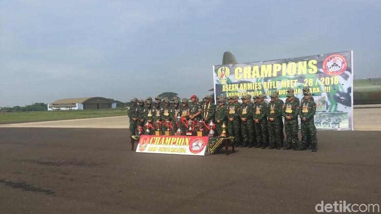 Tiba di Jakarta, Tim TNI AD Juara AARM Disambut Danjen Kopassus