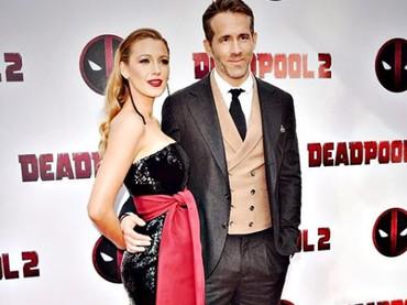 Serasi banget ya, Bun? Blake Lively hadir mendampingi suaminya saat rilis Deadpool.(Foto: Instagram @blakelively)
