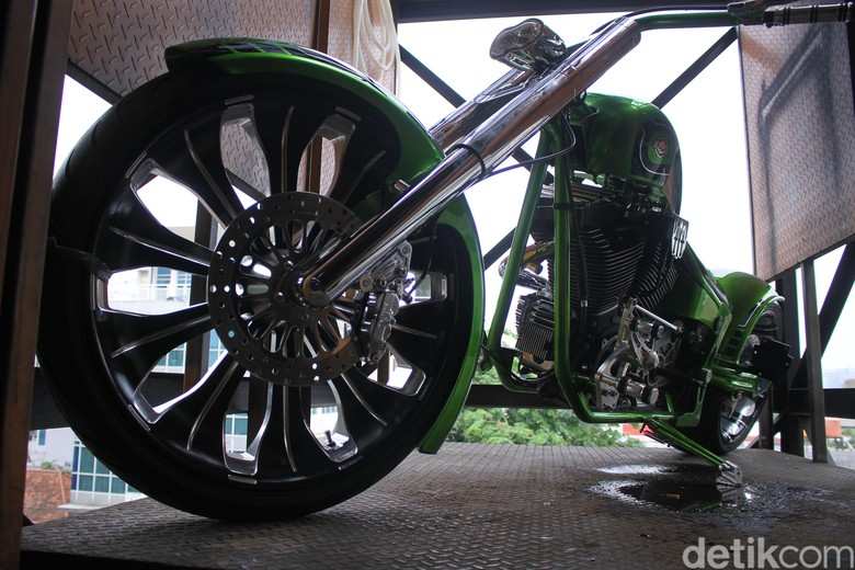 Modifikasi Harley-Davidson Foto: Luthfi Anshori/detikOto