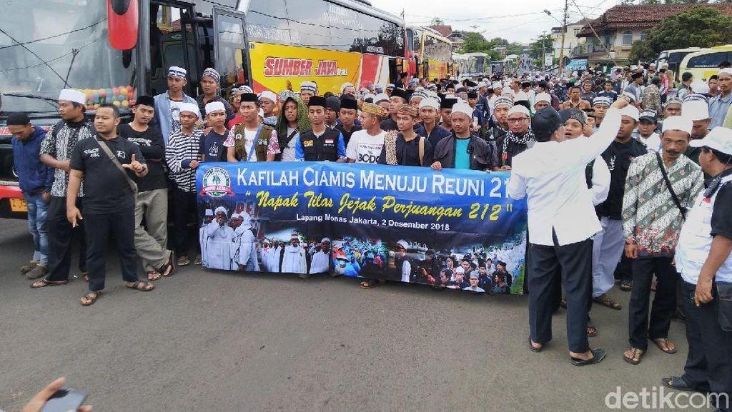 Massa Reuni Aksi 212 Asal Ciamis Siap Berangkat ke Jakarta
