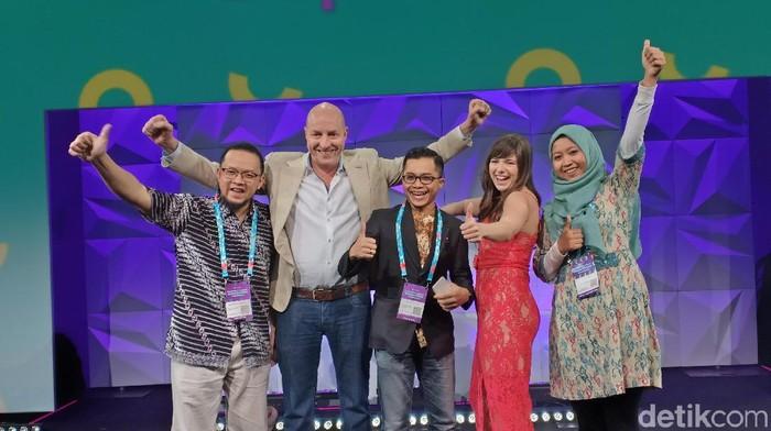 Halal Local wakil Indonesia berhasil masuk final di kompetisi pitching di Australia. Foto: Gibran Maulana Ibrahim/detikINET