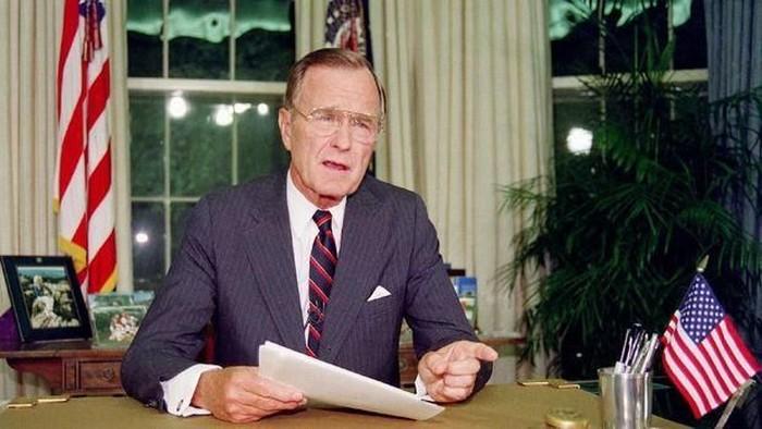 George H. W. Bush meninggal dunia di usia 94 tahun. (Foto: AFP)