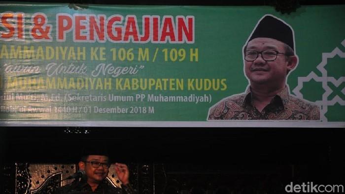 Sekum PP Muhammadiyah Abdul Muti di Kudus, Sabtu (1/12/2018).