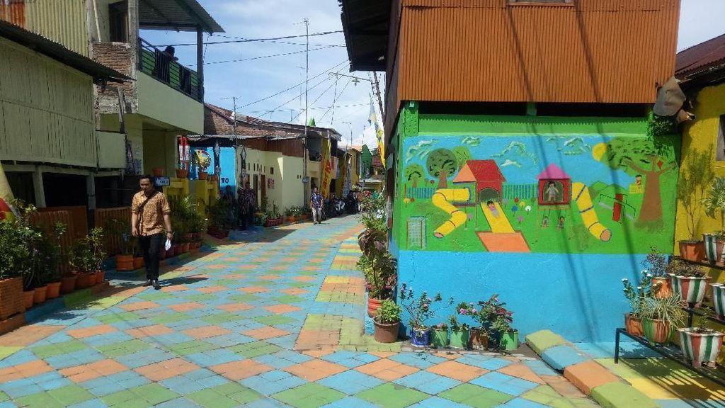 Cantiknya Kampung dan Lorong Warna Warni di Makassar