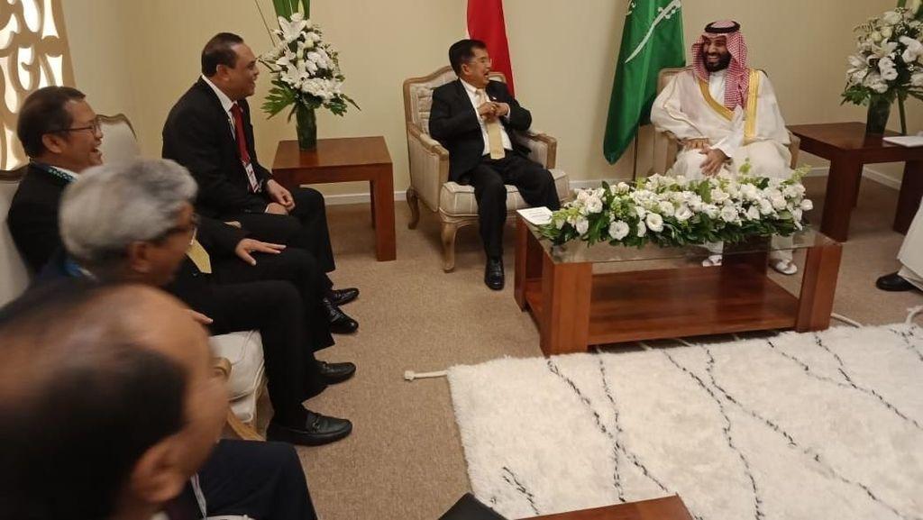 Foto: Momen JK Bertemu Putra Mahkota Arab Saudi Bahas Khashoggi