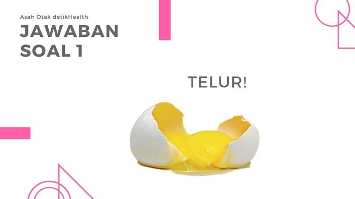 Yak jawabannya adalah telur! Mungkin sebagian besar barang ketika pecah akan dibuang, namun tidak dengan telur. Baru bisa digunakan kalau sudah pecah, ya kan? (Foto: detikHealth)