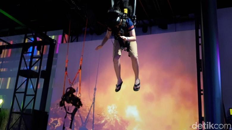 Headrock VR yang baru di Singapura (Afif Farhan/detikTravel)