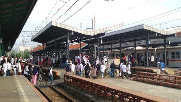 Kondisi Stasiun Manggarai, Minggu (2/12).