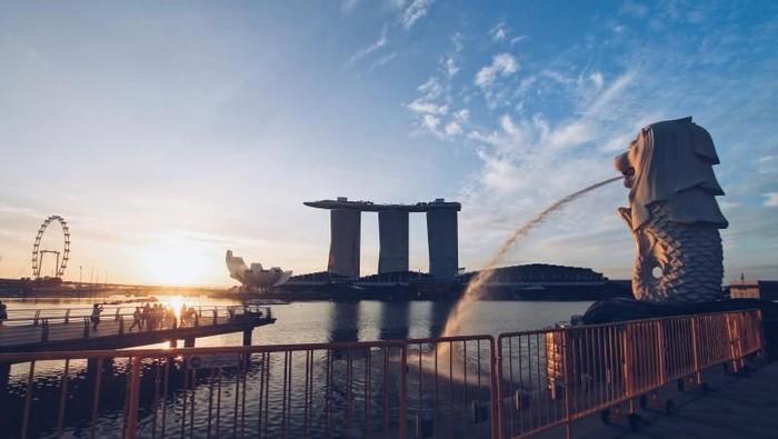 Sunrise di Merlion, Singapura
