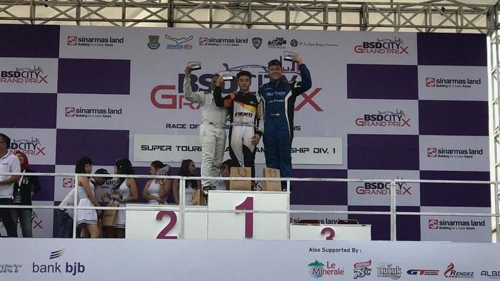 Pebalap ABM Motorsport Gerhard Lukita meraih podium teratas di BSD City GP (dok.ABM Motorsport)