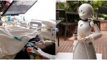 Robot Jadi Pelayan Kafe yang Dikendalikan Orang Lumpuh